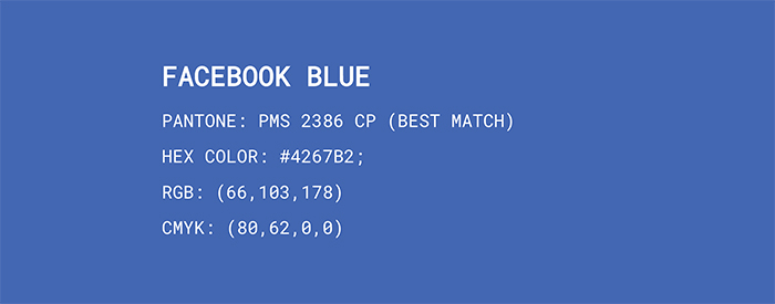 Facebook Blue Color Codes