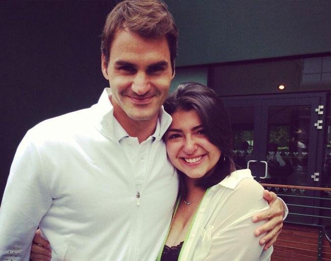 With Roger Federer